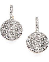Phillips House Pavé Diamond & 14k Yellow Gold Petite Infinity Drop Earrings - Metallic