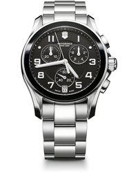 Victorinox Chrono Classic Stainless Steel Chronograph Bracelet Watch - Metallic