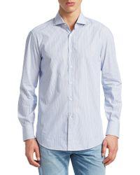 Brunello Cucinelli - Stripe Button-down Shirt - Lyst