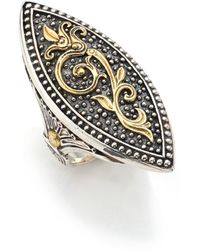 Konstantino - Hebe 18k Yellow Gold & Sterling Silver Marquise Ring - Lyst
