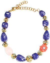 Lele Sadoughi - Keepsake Stone Necklace - Lyst