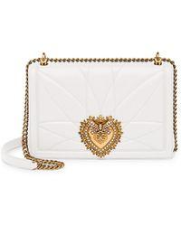 Dolce & Gabbana - Large Devotion Quilted Leather Shoulder Bag - Lyst