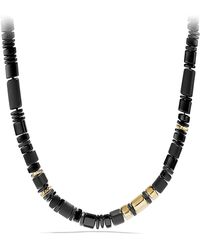 David Yurman - Nevelson Bead Necklace With Black Onyx In 18k Gold - Lyst