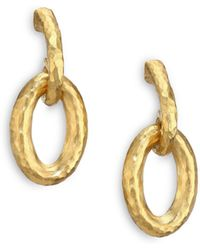 Gurhan - Hoopla 24k Yellow Gold Galahad Drop Hoop Earrings - Lyst