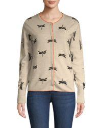 ESCADA - Strecosa Dragonfly Wool Cardigan - Lyst