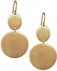 Stephanie Kantis - Esteem Double Drop Disc Earrings - Lyst