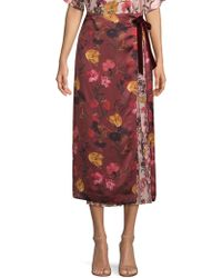 Mother Of Pearl - Floral Midi Skirt - Lyst