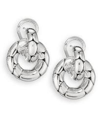John Hardy - Kali Sterling Silver Small Doorknocker Earrings - Lyst