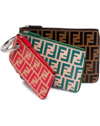 Fendi Triplette Logo Clutch Bag - Multicolour