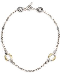 Konstantino - 18k Yellow Gold & Sterling Silver Choker Necklace - Lyst