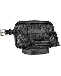 Gigi New York Kylie Python-embossed Leather Belt Bag - Black