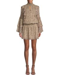 Parker - Women's Eliana Animal Print Blouson Dress - Mini Camel Jungle - Size Xs - Lyst