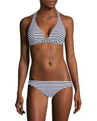 Shoshanna - Marine Stripe Bikini Top - Lyst