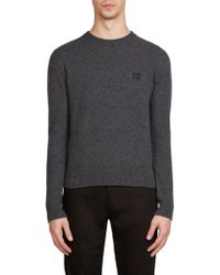 Acne | Nalon Face Wool Sweatshirt | Lyst
