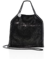Stella McCartney - Falabella Tiny Baby Bella Shimmer Faux-suede Tote - Lyst