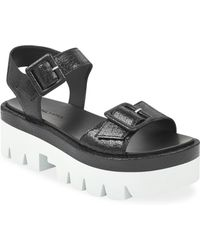 Kendall + Kylie - Wave Leather Platform Sandals - Lyst