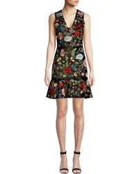 Alice + Olivia - Peyton Embellished Fit-&-flare Dress - Lyst