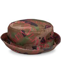 Valentino - Men s Logo Camo Bucket Hat - Army Green Pink - Size Large - Lyst df630808bde
