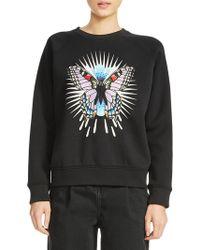 Maje - Butterfly Graphic Sweatshirt - Lyst