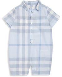 Burberry - Baby's Spread Collar Shortalls - Lyst