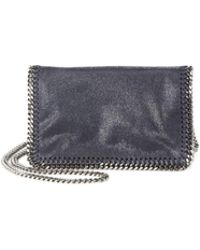 a9e61131f6 Stella McCartney - Falabella Faux Leather Fold-over Chain Crossbody Bag -  Lyst