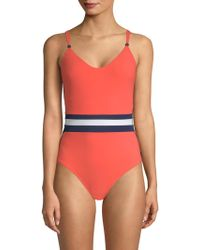 Shan - One-piece Tricolor Swimsuit - Lyst