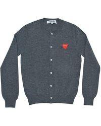 COMME DES GARÇONS PLAY Heart Wool Cardigan - Gray