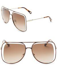 Chloé - Poppy Square Sunglasses - Lyst