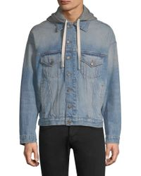 The Kooples - Hooded Denim Jacket - Lyst