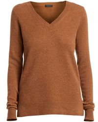 Saks Fifth Avenue Collection Cashmere V-neck Sweater - Brown