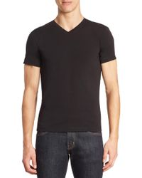 Armani Jeans - Stretch Cotton Tee - Lyst