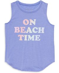 Chaser - Little Girl's And Girl's Beach Time Graphic Muscle Tee - Lyst