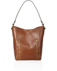 Frye - Harness Studded Leather Hobo Bag - Lyst