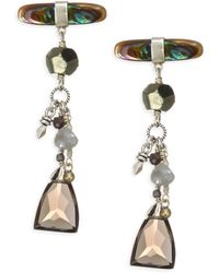 Chan Luu - Abalone Mix Stone Earrings - Lyst