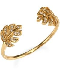 Sydney Evan - Monstera Open Ring - Lyst