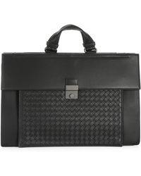 Bottega Veneta - Nero Leather Briefcase - Lyst