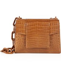 Nancy Gonzalez - Medium Crocodile Chain Flap Shoulder Bag - Lyst