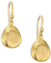 Gurhan - 22k Gold Pebble Drop Earrings - Lyst