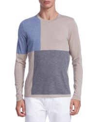 Saks Fifth Avenue - Collection Patchwork Cashmere Sweater - Lyst