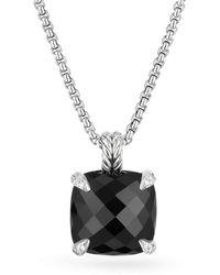 David Yurman - Chatelaine® Pendant Necklace With Black Onyx And Diamonds - Lyst