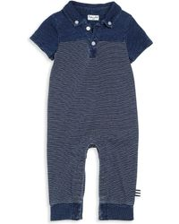Splendid Baby's Collared Coverall - Blue