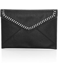 Rebecca Minkoff Leo Chain-trimmed Envelope Clutch - Black