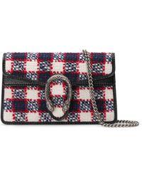 Gucci - Super Mini Dionysus Tweed Bag - Lyst
