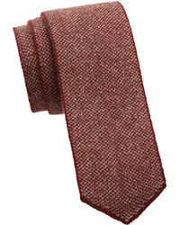 Saks Fifth Avenue - Men's Collection Two-tone Cashmere Knit Tie - Burgundy Oatmeal - Lyst