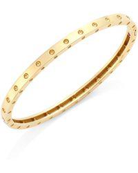 Roberto Coin - Pois Moi 18k Yellow Gold Oval Bangle Bracelet - Lyst