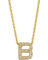 Roberto Coin - Tiny Treasures 18k Yellow Gold & Diamond Letter B Necklace - Lyst