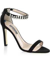 SJP by Sarah Jessica Parker | Zaida Detailed Satin Stilettos | Lyst