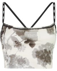 Fendi Shady Flowers Fitness Top - Multicolor