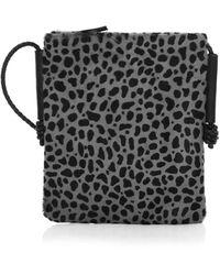 Lafayette 148 New York Animal Print Calf Hair Crossbody Bag - Black