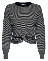 FRAME Twist-front Striped Cashmere Sweater - Multicolor